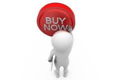 3d man buy now concept Stock Images