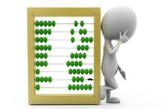 3d man calculation  concept Stock Images