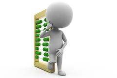3d man calculation concept Stock Photo
