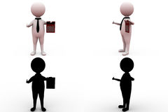 3d man with calculator concept collections with alpha and shadow channel Stock Images