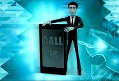 3d man call us concept Stock Photo