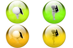 3d man calling icon Royalty Free Stock Images