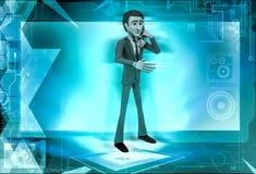 3d man calling  illustration Stock Images