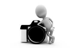 3d man camera concept Stock Photography