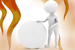 3d man capsule illustration Royalty Free Stock Images
