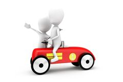 3d man car concept Royalty Free Stock Photos
