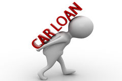 3d man car loan concept Stock Photography