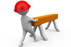 3d man carpenter concept Stock Images