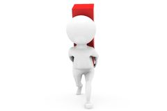 3d man carry on back concept Royalty Free Stock Photography