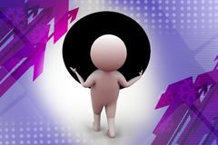 3d man carry big ball  illustration Royalty Free Stock Photography