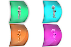 3d man carry cable concept icon Stock Image