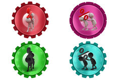3d Man carry percent icon Royalty Free Stock Photo