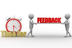 3d Man Carrying Feedback , Time For Feedback Illustration Stock Photo