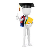 3d man carrying some books. 3d man holding some books, education concept Royalty Free Stock Photography
