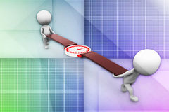 3d man carrying watch illustration Royalty Free Stock Photography