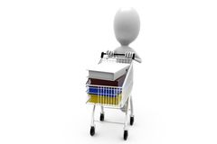 3d man cart files concept Royalty Free Stock Photo