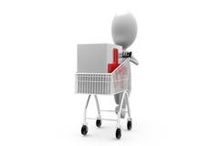 3d man cart medicine concept Stock Photo