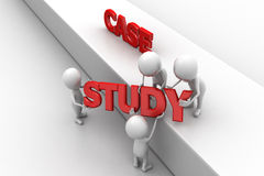 3d man case study concept Royalty Free Stock Photography