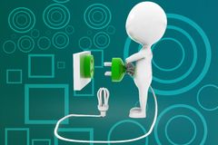 3d man cfl connecting illustration Stock Photo