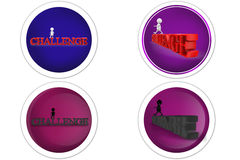 3d Man challenge concept icon Stock Photos