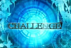 3d man challenge concept Stock Photo