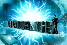3d man challenge concept Stock Photos