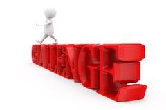 3d man challenge concept Stock Images