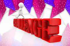 3d man challenge illustration Stock Images