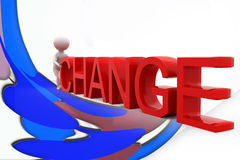 3d man change illustration Stock Photography
