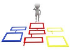 3d man chart problem concept Stock Photo