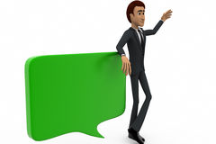 3d man with chat bubble concept Royalty Free Stock Images