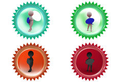3d man chat bubble icon Royalty Free Stock Images