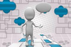 3d man chat illustration Stock Images