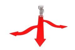 3d man choose path concept Stock Image