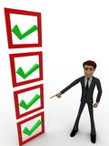 3d man choosing right option concept Stock Photo