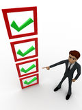 3d man choosing right option concept Royalty Free Stock Photo