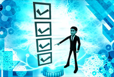 3d man choosing right option illustration Royalty Free Stock Image