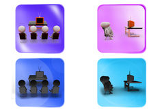 3d man cinema icon Royalty Free Stock Images