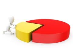 3d man circular graph concept Stock Photo