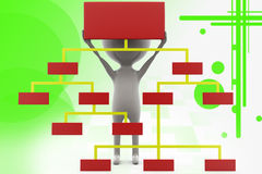 3d man classification chart illustration Royalty Free Stock Images