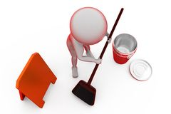 3d man clean concept Royalty Free Stock Images