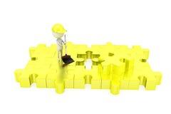 3d man clean puzzle concept Stock Photo