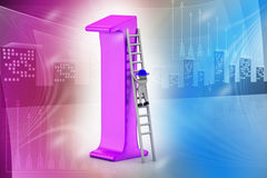3d man climbing the high position. In attractive color background Royalty Free Stock Photos