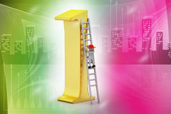3d man climbing the high position Stock Images