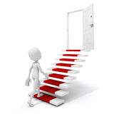 3d man climbing on a stair to success. Metaphor Royalty Free Stock Photo
