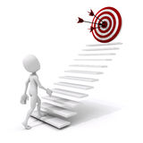 3d man climbing on a stair to success Royalty Free Stock Photo