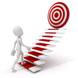 3d man climbing on a stair to success Stock Image