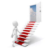 3d man climbing on a stair to success Royalty Free Stock Photos
