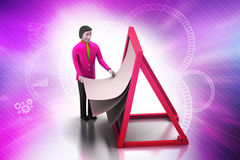 3d man with clip board. In color background Stock Image