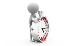 3d man clock concept Stock Photo